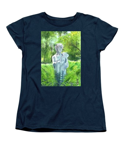 Women's T-Shirt (Standard Cut) featuring the painting A Statue At The Wellers Carriage House -4 by Yoshiko Mishina