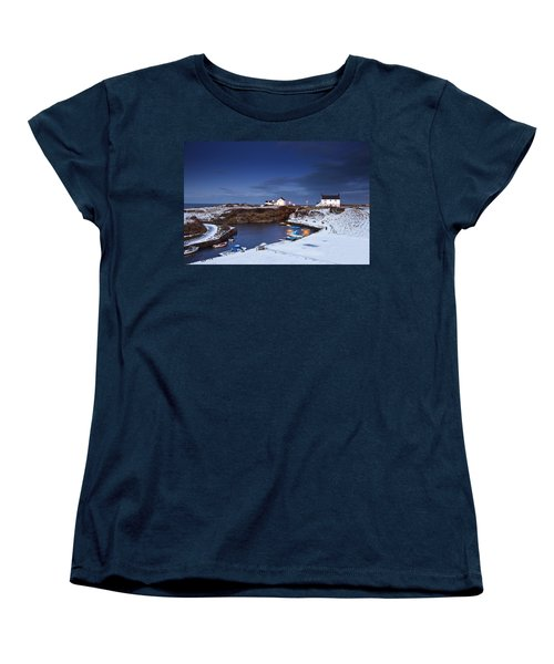Women's T-Shirt (Standard Cut) featuring the photograph A Village On The Coast Seaton Sluice by John Short