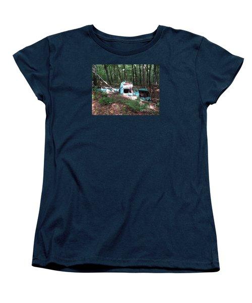 Abandoned Catskill Truck Women's T-Shirt (Standard Cut) by Kathryn Barry