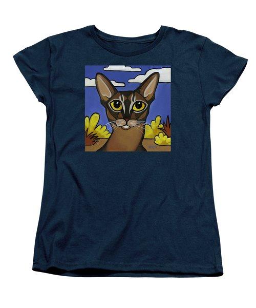 Abyssinian  Women's T-Shirt (Standard Cut) by Leanne Wilkes
