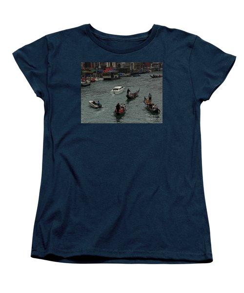 Women's T-Shirt (Standard Cut) featuring the photograph Along The Canal by Vivian Christopher