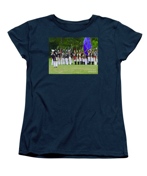 Women's T-Shirt (Standard Cut) featuring the photograph American Line by JT Lewis