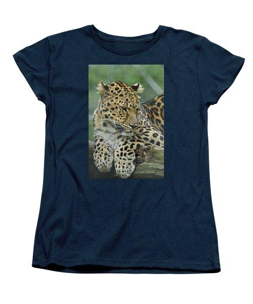 Women's T-Shirt (Standard Cut) featuring the photograph Amur Leopard by JT Lewis