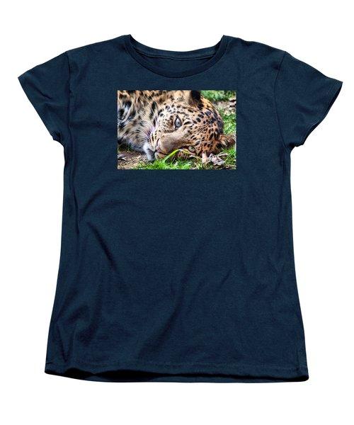 Amur Leopard Women's T-Shirt (Standard Cut) by Lynne Jenkins