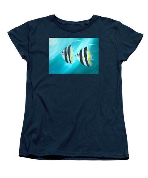 Angel Fish Women's T-Shirt (Standard Cut) by Bernadette Krupa