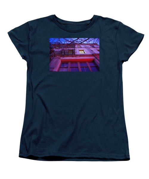 Women's T-Shirt (Standard Cut) featuring the photograph Apartment Building by Marilyn Wilson