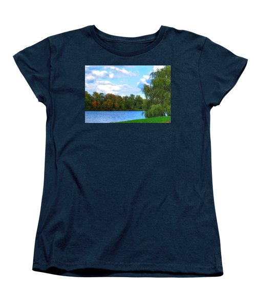 Women's T-Shirt (Standard Cut) featuring the photograph Autumn At Hoyt Lake by Michael Frank Jr