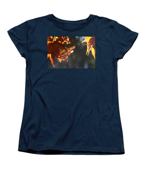 Autumn Maple Women's T-Shirt (Standard Cut) by Mick Anderson