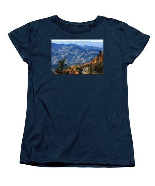 Women's T-Shirt (Standard Cut) featuring the photograph Autumn On The Blue Ridge Parkway by Lynne Jenkins