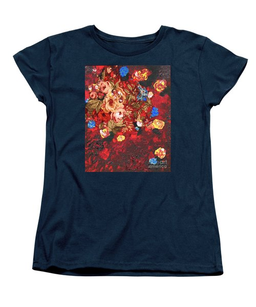 Women's T-Shirt (Standard Cut) featuring the painting Baba's Garden Lg by Alys Caviness-Gober
