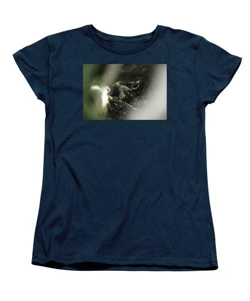 Women's T-Shirt (Standard Cut) featuring the photograph Baby Robin by Tom Gort