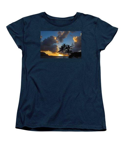 Women's T-Shirt (Standard Cut) featuring the photograph Bali Hai Sunset by Lynn Bauer