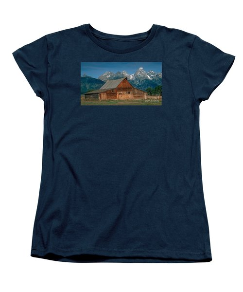 Barn And Tetons Women's T-Shirt (Standard Cut) by Jerry Fornarotto
