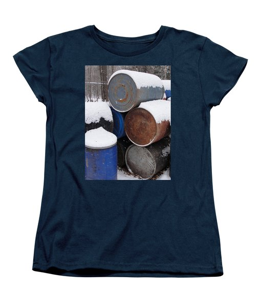 Women's T-Shirt (Standard Cut) featuring the photograph Barrel Of Food by Tiffany Erdman