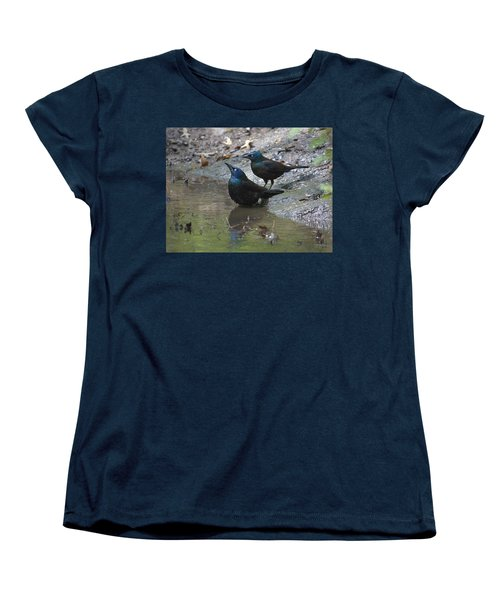 Bathing Partners Women's T-Shirt (Standard Cut) by Sarah McKoy