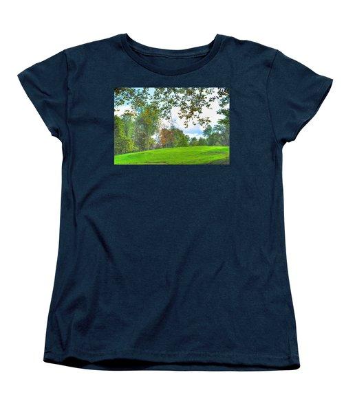 Women's T-Shirt (Standard Cut) featuring the photograph Beginning Of Fall by Michael Frank Jr