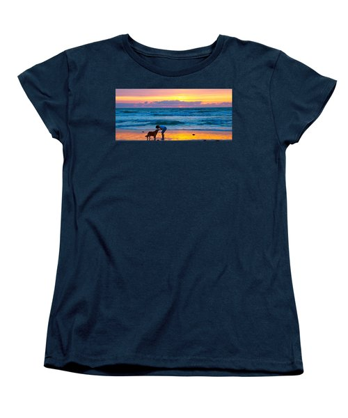Women's T-Shirt (Standard Cut) featuring the photograph Bella At Sunrise by Alice Gipson