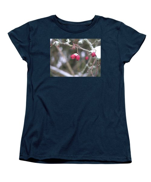 Berries In Winter Women's T-Shirt (Standard Cut)