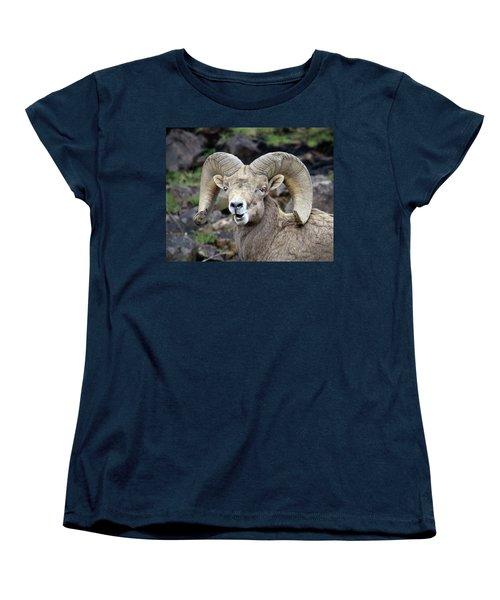 Bighorn Giant Women's T-Shirt (Standard Cut) by Steve McKinzie