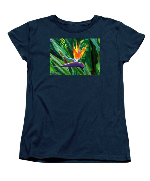 Bird-of-paradise Women's T-Shirt (Standard Cut) by Mike Robles