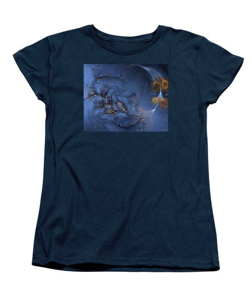 Women's T-Shirt (Standard Cut) featuring the digital art Birth Of The Cool by Casey Kotas