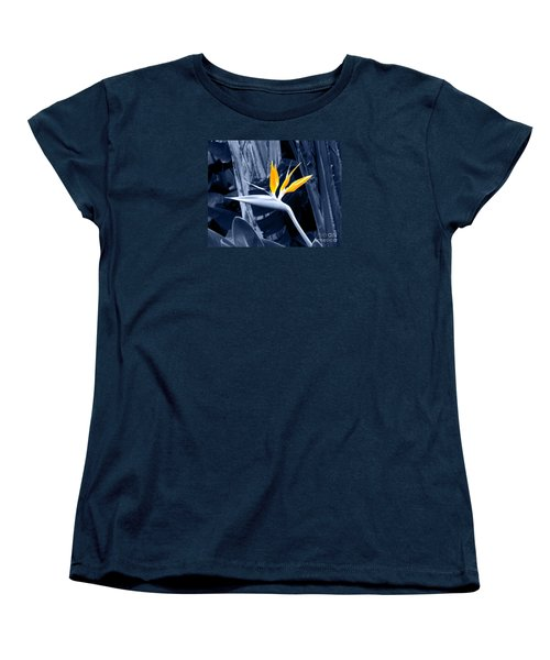 Blue Bird Of Paradise Women's T-Shirt (Standard Cut) by Rebecca Margraf