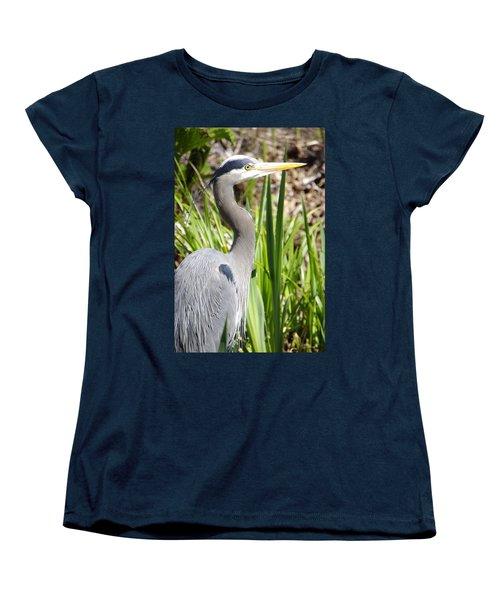 Women's T-Shirt (Standard Cut) featuring the photograph Blue Heron by Marilyn Wilson