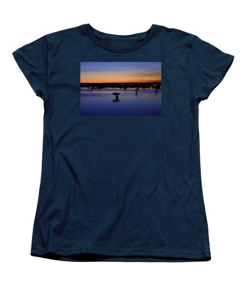 Blue Sunset Mangroves Women's T-Shirt (Standard Cut) by Rich Franco