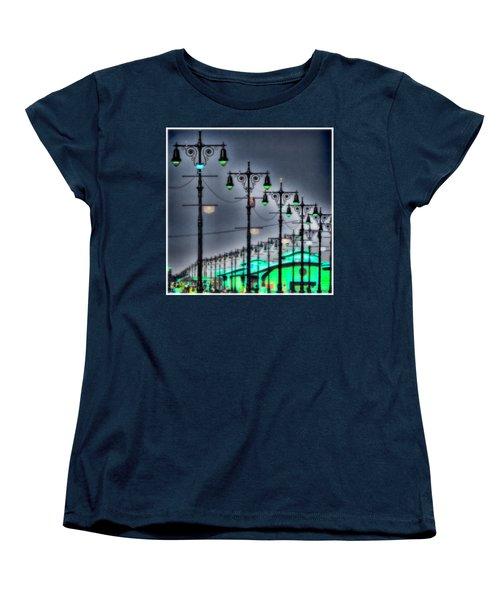 Women's T-Shirt (Standard Cut) featuring the photograph Boardwalk Lights by Chris Lord
