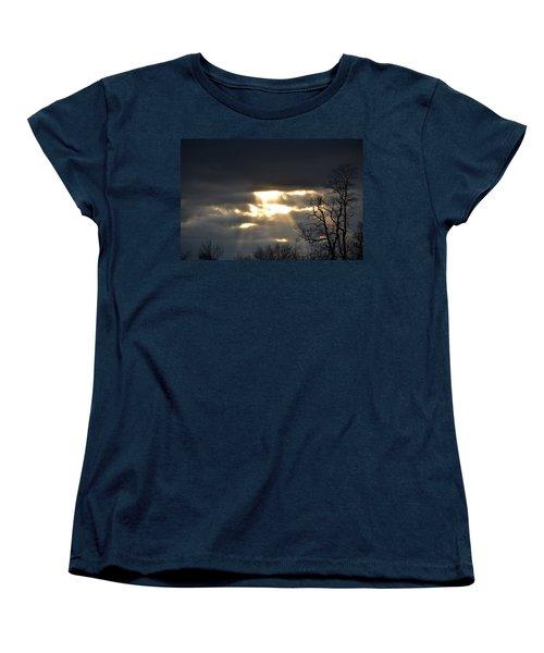 Break In The Clouds Women's T-Shirt (Standard Cut) by Bonnie Myszka