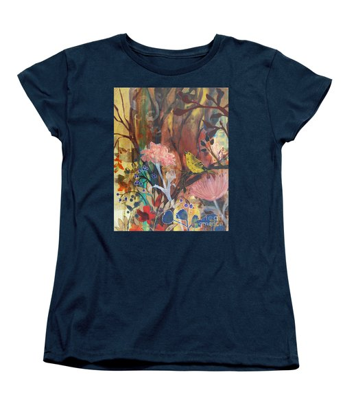 Women's T-Shirt (Standard Cut) featuring the painting Breath Of Cooler Air by Robin Maria Pedrero