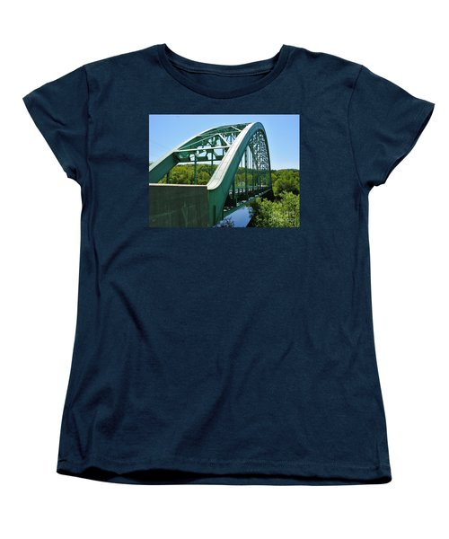 Women's T-Shirt (Standard Cut) featuring the photograph Bridge Spanning Connecticut River by Sherman Perry