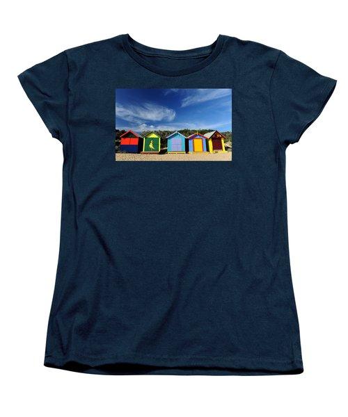 Women's T-Shirt (Standard Cut) featuring the photograph Brighton Beach by Yew Kwang