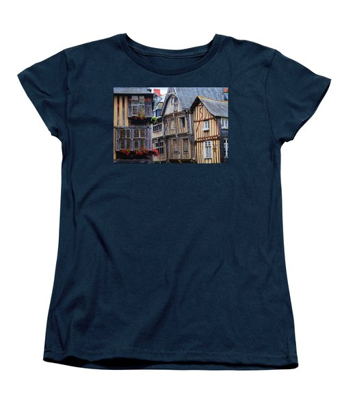 Women's T-Shirt (Standard Cut) featuring the photograph Brittany Buildings by Dave Mills