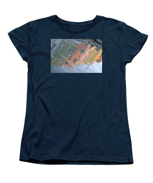 Women's T-Shirt (Standard Cut) featuring the photograph Burano House Reflections by Rebecca Margraf