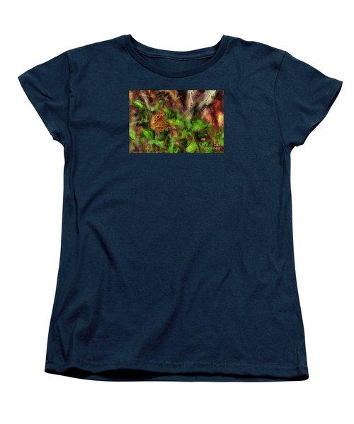 Women's T-Shirt (Standard Cut) featuring the photograph Butterfly Camouflage by Dan Friend