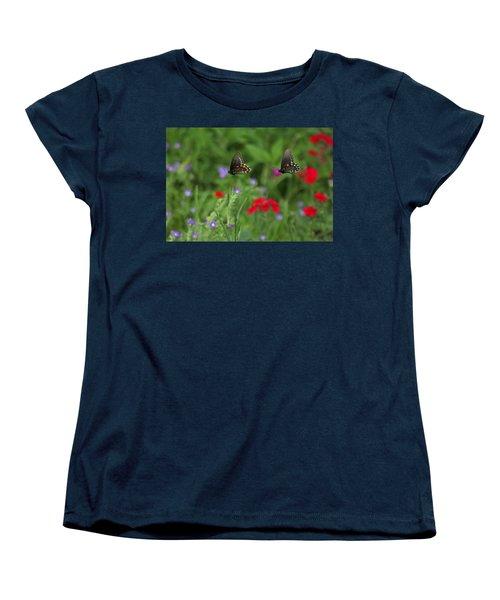 Butterfly Chase Women's T-Shirt (Standard Cut) by Susan Rovira