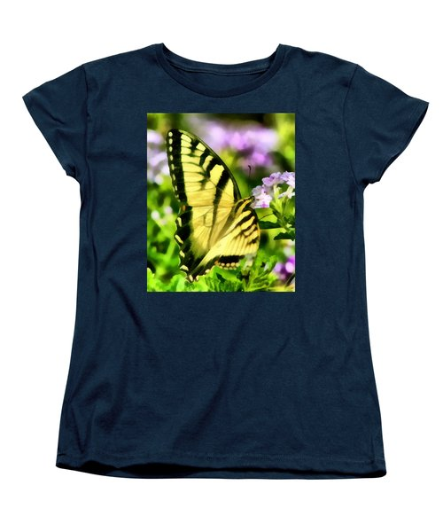 Women's T-Shirt (Standard Cut) featuring the painting Butterfly by Lynne Jenkins