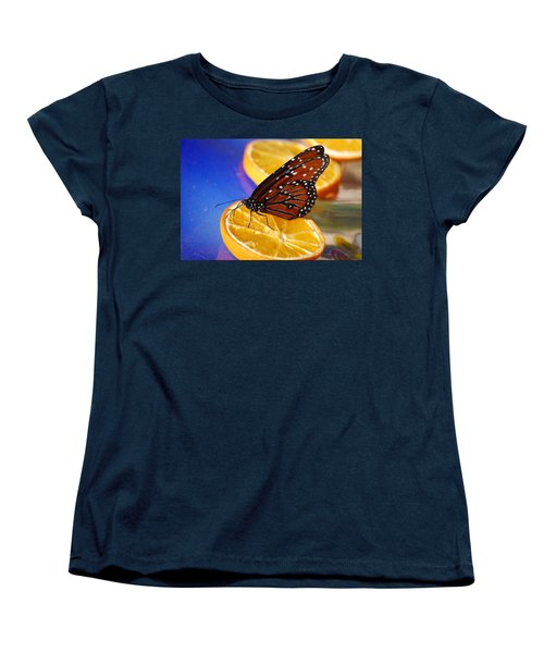 Women's T-Shirt (Standard Cut) featuring the photograph Butterfly Nectar by Tam Ryan