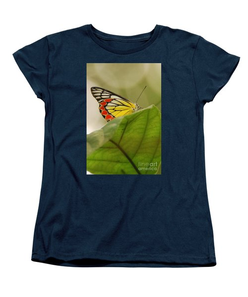 Women's T-Shirt (Standard Cut) featuring the photograph Butterfly Resting by Fotosas Photography