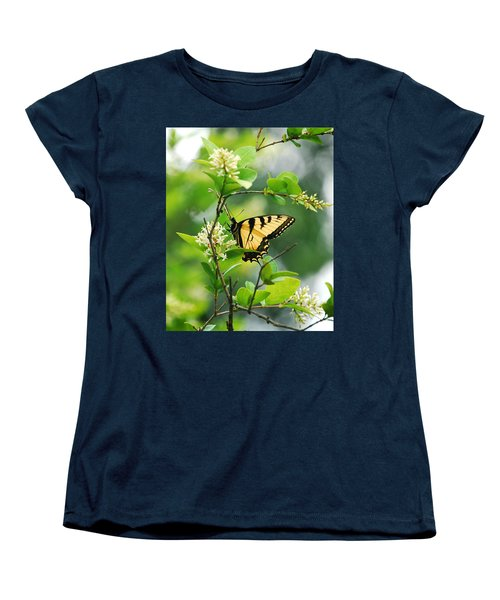 Women's T-Shirt (Standard Cut) featuring the photograph Butterfly Tiger Swallow by Peggy Franz