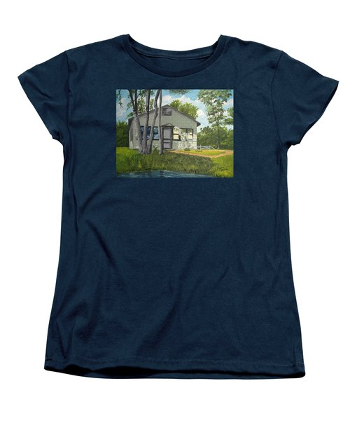 Cabin Up North Women's T-Shirt (Standard Cut) by Norm Starks