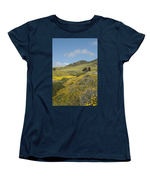 California Hillside View I Women's T-Shirt (Standard Cut) by Kathleen Grace