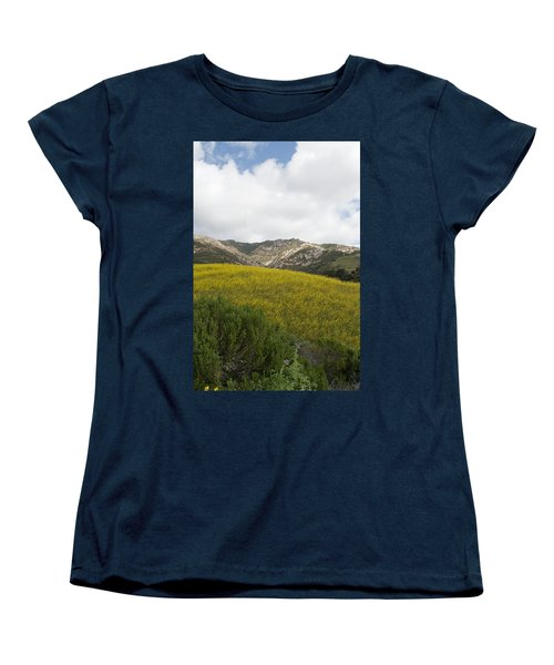 California Hillside View V Women's T-Shirt (Standard Cut) by Kathleen Grace