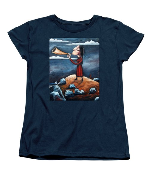 Women's T-Shirt (Standard Cut) featuring the painting Calling by Leanne Wilkes