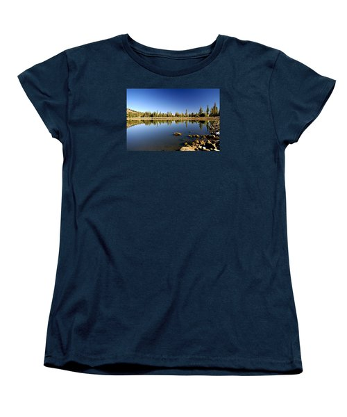 Calm Day On Red Lake Women's T-Shirt (Standard Cut) by Michael Courtney