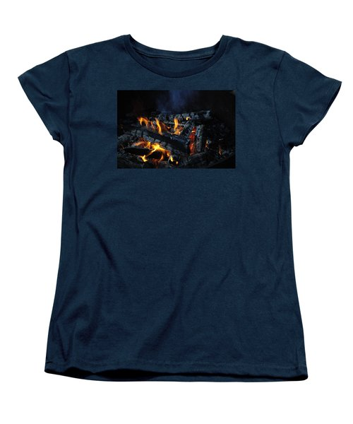 Women's T-Shirt (Standard Cut) featuring the photograph Campfire by Fran Riley