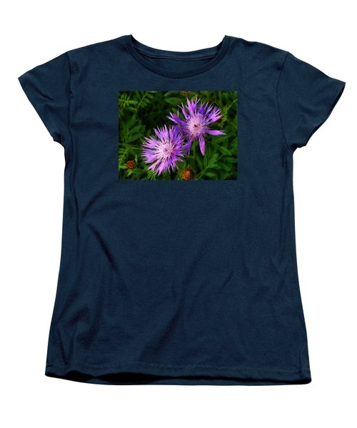 Women's T-Shirt (Standard Cut) featuring the photograph Can Flowers Say Boo by Steve Taylor