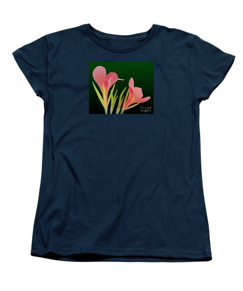Canna Lilly Whimsy Women's T-Shirt (Standard Cut) by Rand Herron