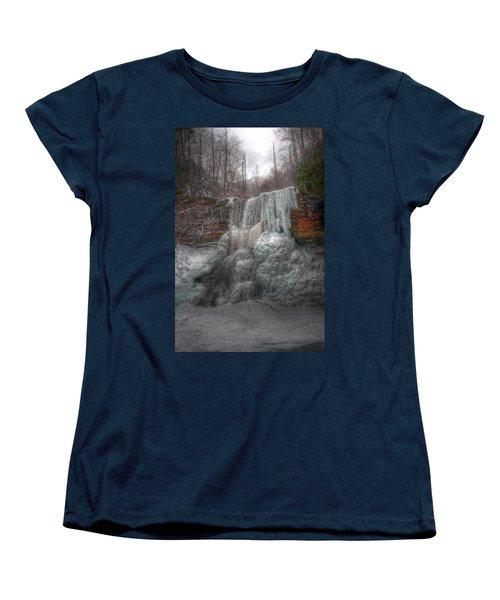 Cascades In Winter 3 Women's T-Shirt (Standard Cut) by Dan Stone